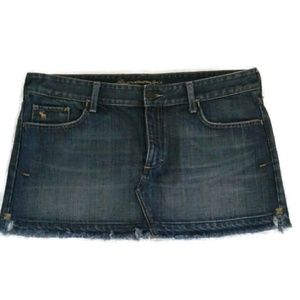 Abercrombie and Fitch Jean Mini Skirt